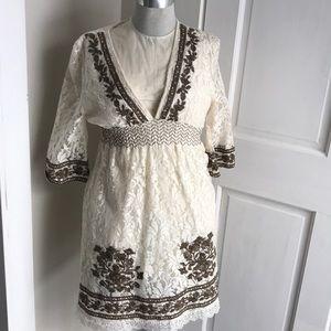 Women's Lace Dress Mango Size Medium